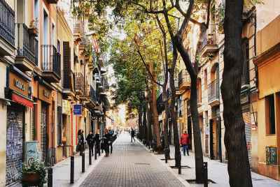 Two commercial properties for sale in Gracia district in Barcelona